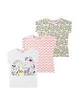 Mini Club Girls Top Short Sleeved 3 Pack