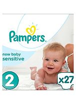 Pampers Premium Protection New Baby Sensitive Size 2 - 27 Nappies