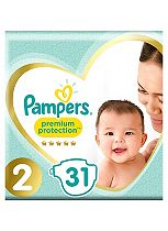 Pampers Premium Protection New Baby Size 2 Carry Pack 31 Nappies
