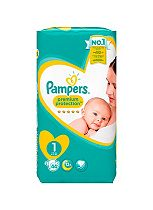 Pampers Premium Protection New Baby Size 1 Essential Pack 44 Nappies