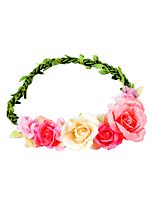 Scunci style floral garland headwrap pnk