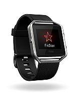 Fitbit Blaze Fitness Super Watch - Black/Silver (Large)