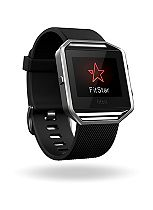 Fitbit Blaze Fitness Super Watch - Black/Silver (Small)
