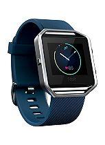 Fitbit Blaze Fitness Super Watch - Blue/Silver (Large)