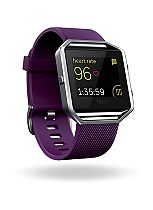 Fitbit Blaze Fitness Super Watch - Plum/Silver (Large)