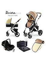 Tutti Bambini Riviera Plus 3-in-1 Silver Travel System - Taupe / Pistachio