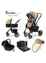 Tutti Bambini Riviera Plus 3-in-1 Black Travel System - Taupe/Pistachio