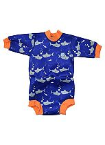 Splash About Happy Nappy Swimming Wetsuit Shark Orange (Medium) 3-8 Months