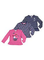 Mini Club Girls Pack of 3 Long Sleeve Tops