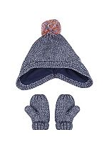 Mini Club Girls Bobble Hat and Gloves Set