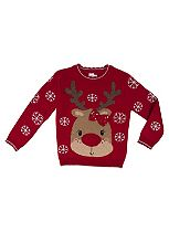 Mini Club Girls Christmas Jumper Reindeer