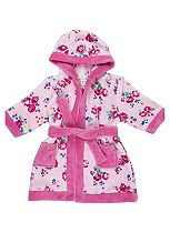 Mini Club Girls Dressing Gown Floral Pink