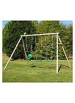 TP Toys Triple Roundwood Swing Set