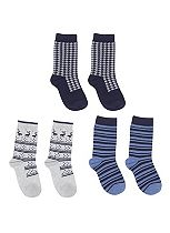 Mini Club Boys 3 Pack of Patterned Socks