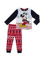 Mini Club Boys Christmas Pyjamas Mickey Mouse