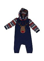 Mini Club Baby Boys All in One Christmas Navy Knit