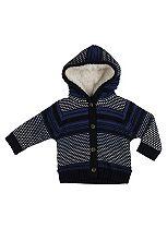 Mini Club Baby Boys Navy Blue Hooded Cardigan