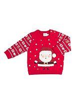 Mini Club Baby Boys Christmas Jumper Santa