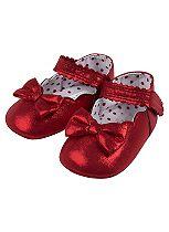 Mini Club Baby Girls Christmas Shoes Red