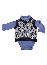 Mini Club Baby Boys Tank Top with Long Sleeve Body Suit