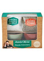 Jamie Oliver Vintage Italian-Style Terracotta Pinch Pots with Flaked Sea Salt and Cracked Black Pepper