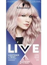 Schwarzkopf LIVE Lightener + Twist 101 Cool Rosé Hair Dye