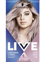 Schwarzkopf LIVE Lightener + Twist 104 Cool Lilac Hair Dye