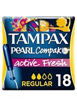 Tampax Compak Pearl Active Fresh Regular Tampons Applicator 18x