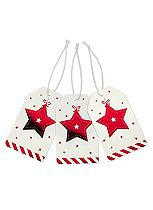 Red & White Star Gift Tags