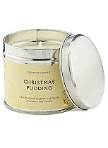 Boots Home Fragrance Christmas Pudding Candle Tin
