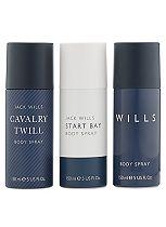 Jack Wills Body Spray Trio