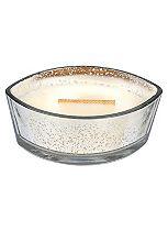 Woodwick hearthwick warm wool mercury glass silver candle 16oz