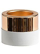 YANKEE CANDLE® WHITE WOOD AND METAL GOLD TEA LIGHT HOLDER