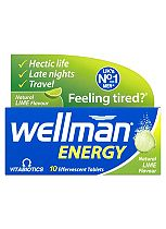 Wellman Energy - 10 Lime Flavour Effervescent Tablets