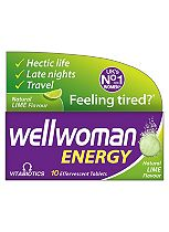 Wellwoman Energy - 10 Lime Flavour Effervescent Tablets