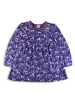 Mini Club Girls Long Sleeve Unicorn Tunic Purple