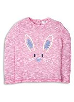 Mini Club Girls Long Sleeve Top Rabbit Pink