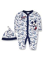 Mini Club Baby Boys All in One and Hat Mickey Mouse