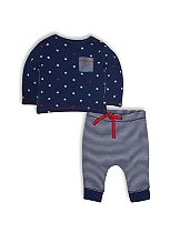 Mini Club Baby Boys Top and Joggers Set Navy Star