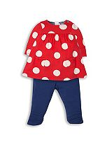 Mini Club Baby Girls Dress and Legging Set Spot