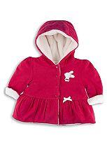 Mini  Club Baby Girls Fur Lined Jacket Pink