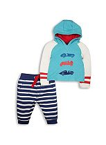 Mini Club Baby Boys 2 Piece Set Blue Car