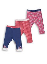 Mini Club Baby Girls Leggings 3 Pack Woodland Animals