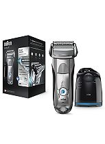 Braun Series 7 7898cc Wet & Dry Electric Shaver with Clean & Charge System - Silver