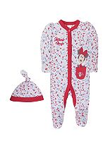 Mini Club Baby Girls All in One and Hat Minnie Mouse