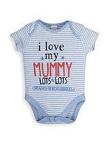 Mini Club Baby Boys Bodysuit 'I Love My Mummy'