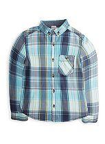 Mini Club Boys Checked Shirt Turquoise