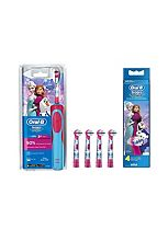 Oral-B Disney's Frozen Kids Electric Toothbrush and Replacement Heads x 4 - Bundle