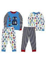 Mini Club Boys 2 Pack Pyjamas Robot