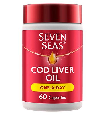 Seven Seas Cod Liver Oil Plus Omega-3 Fish Oil One-A-Day Capsules - 60 Capsules